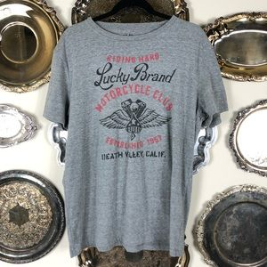 LUCKY BRAND | Men's Motorcycle Club T-Shirt Large